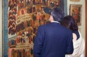 """фрагмент экспозиции. Одна самых монументальных икон собрания - """"Страшный Суд""""."""