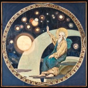 8. В.А. Котарбинский. Четвёртый день творения. Сотворение небесных светил. После реставрации.