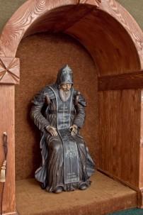 """В июне 2012 года после шести месяцев реставрации скульптура была торжественно перезена из Москвы в музей """"Наследие преподобного Нила"""", Нило-Столобенская пустынь."""
