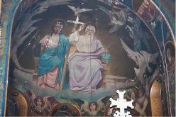 Собор во имя Вознесения Господня. Г. Новочеркасск. Композиция «Троица Новозаветная» в конхе центральной апсиды.