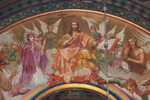 Собор во имя Вознесения Господня. Г. Новочеркасск. Композиция «Страшный суд» на западной стене.
