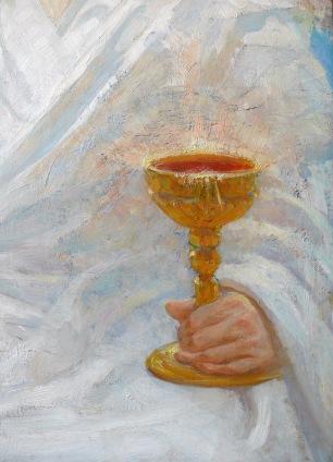 """Из воспоминаний внучки И.Е. Репина Т.Н. Дьяконовой: """"...вначале Христос был изображен положившим руку на земной шар, и кровь из руки его стекала на земной шар."""""""
