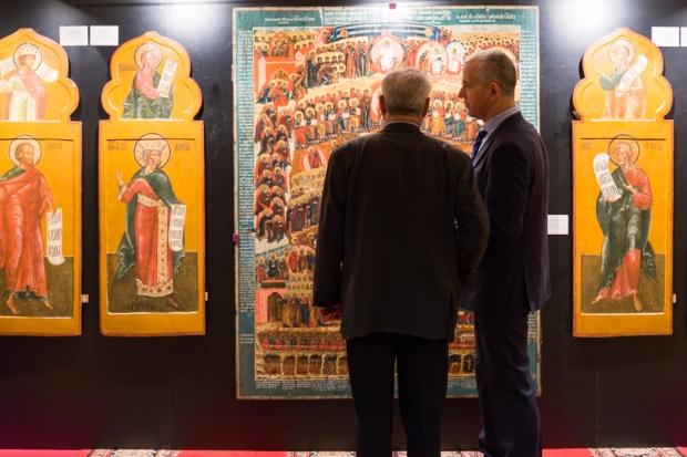 Особый интерес у посетителей выставки вызывала подписная икона второй половины XVIII века «Страшный Суд».